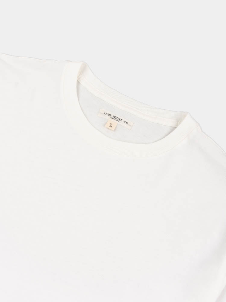lite jersey, t-shirt, white, lady white co, collar