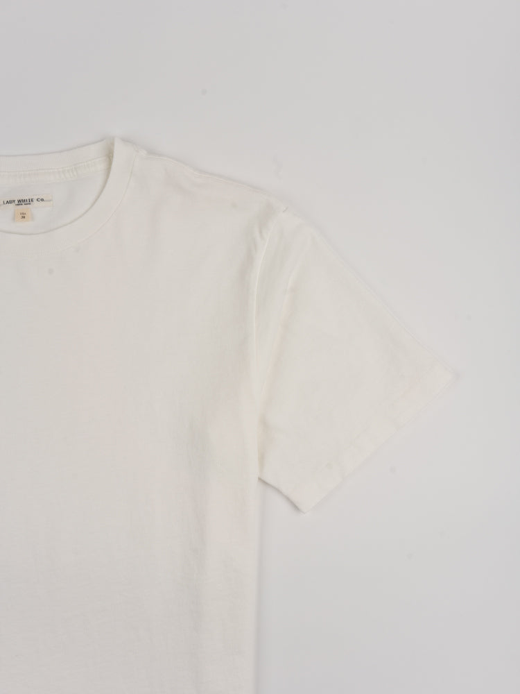 lite jersey, t-shirt, white, lady white co, sleeve