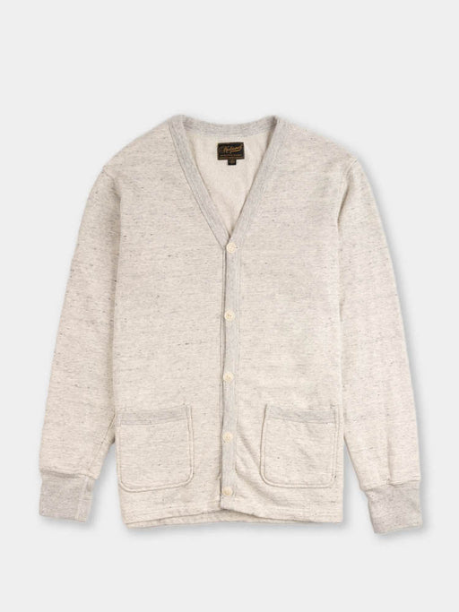 varsity cardigan, oat grey, national athletic goods