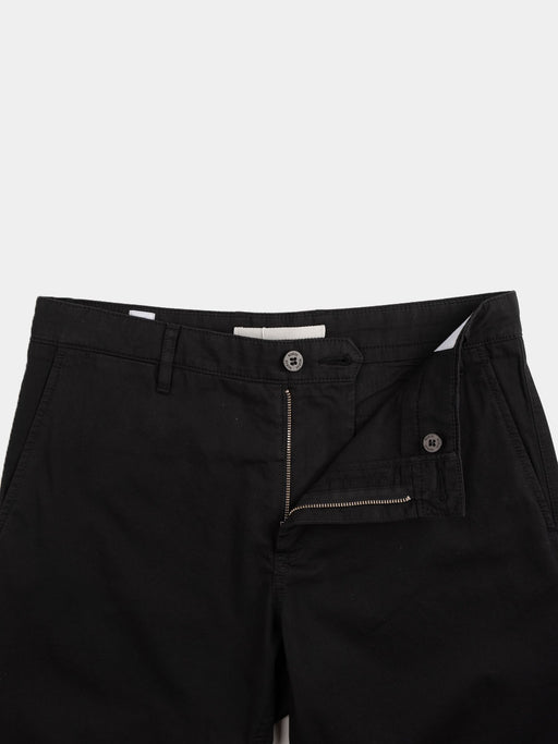 aros shorts, light twill, zip closure, black, norse projects
