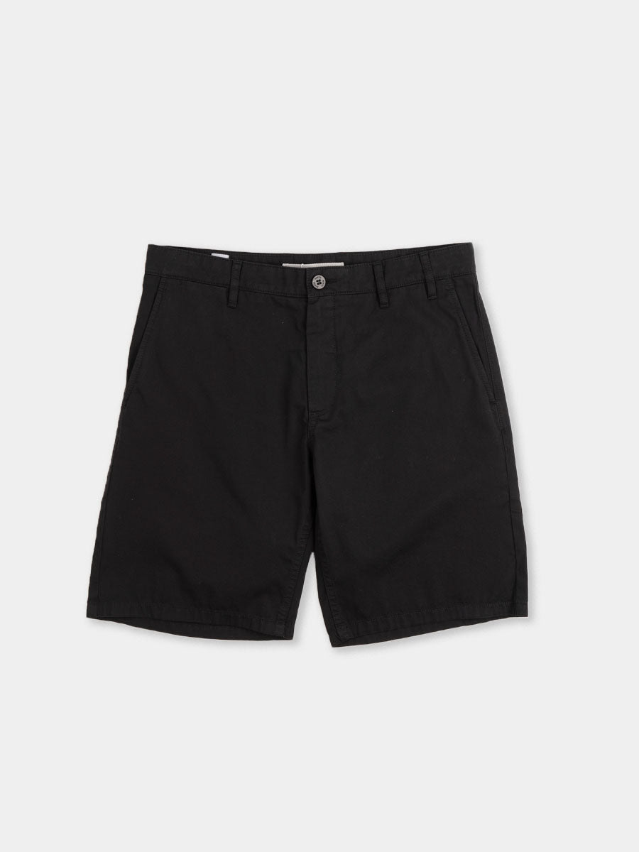 aros, light twill shorts, black, norse projects