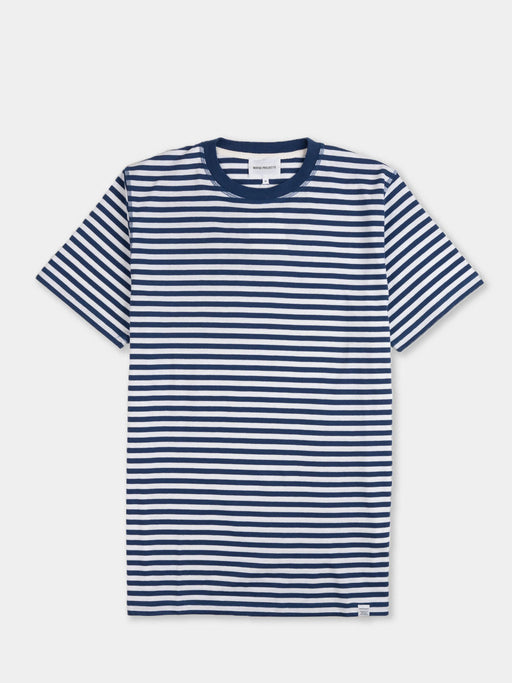 neils, t-shirt, classic stripe, ss, blue, norse projects
