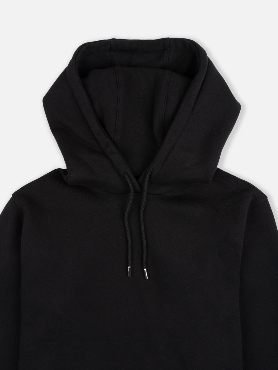 vagn hoodie, black, norse projects, hood detail