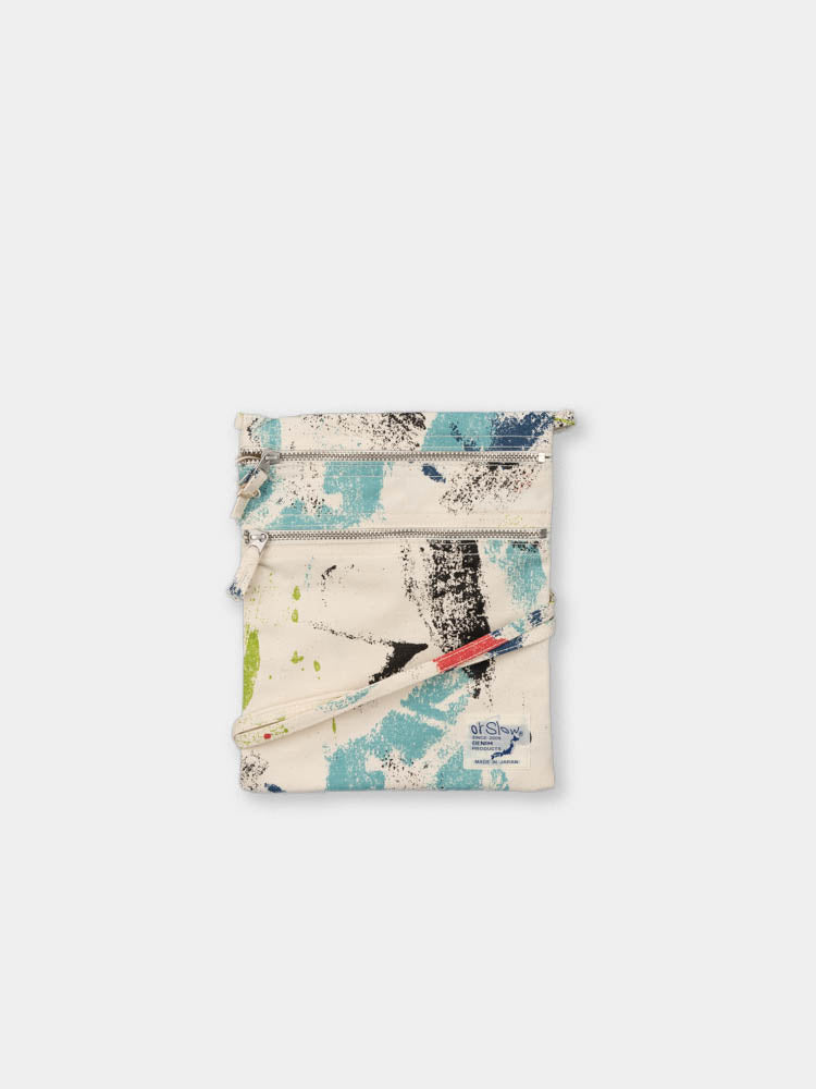 sacoche bag, multi colour, print, orslow