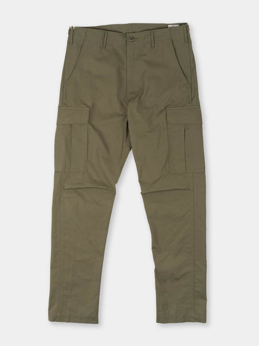 slim fit, 6 pocket cargo pants, original ripstop, army green, orslow
