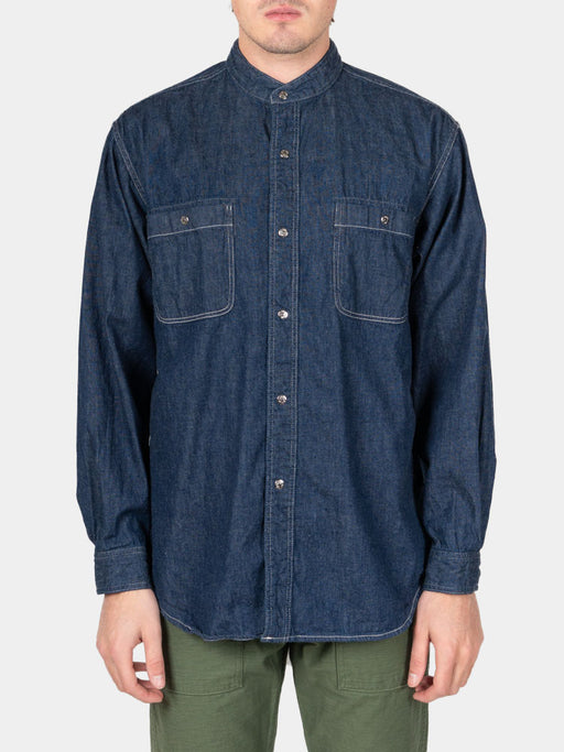 Stand Collar Shirt One Wash