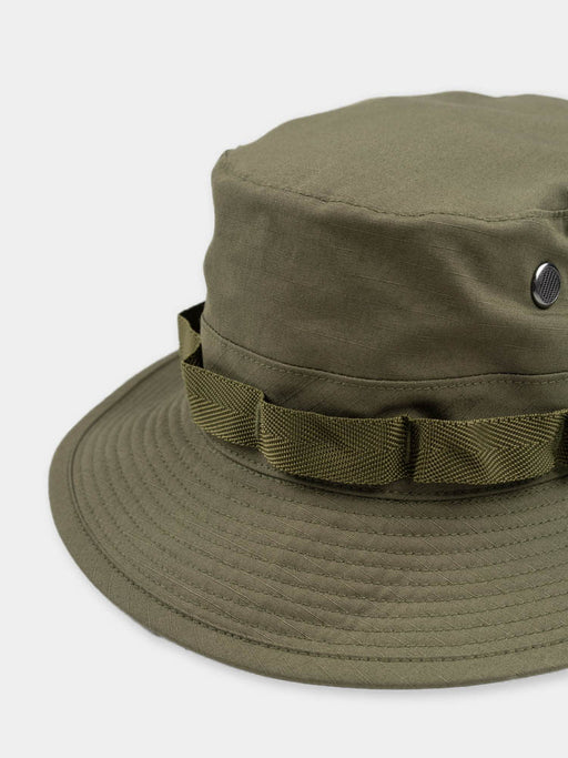 us army jungle hat, green, orslow, hat band detail