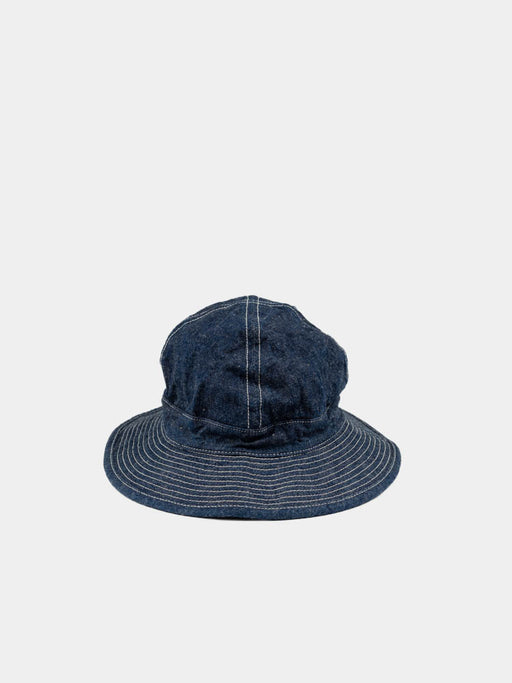 us navy hat, one wash denim, orslow