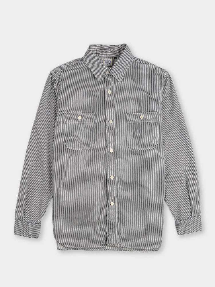 work shirt, hickory stripe, orslow