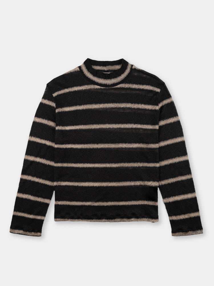 artist polo, black and beige, stripe, our legacy