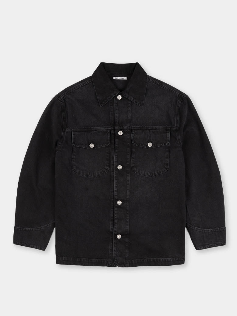 new work jacket, coal cotton, our legacy