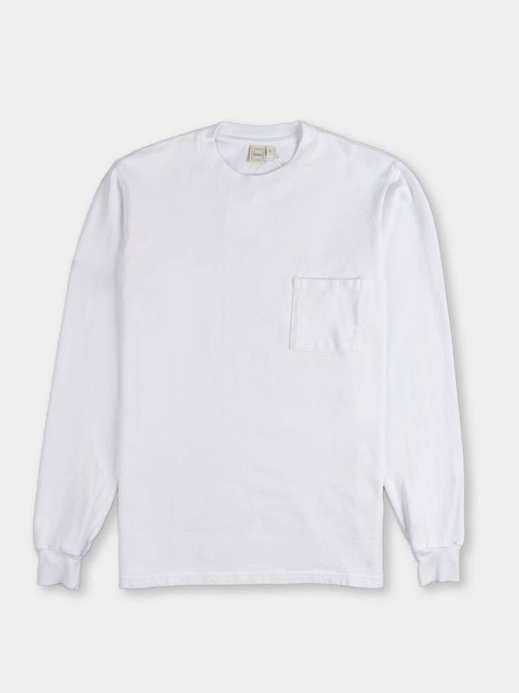 LS Pocket Tee White