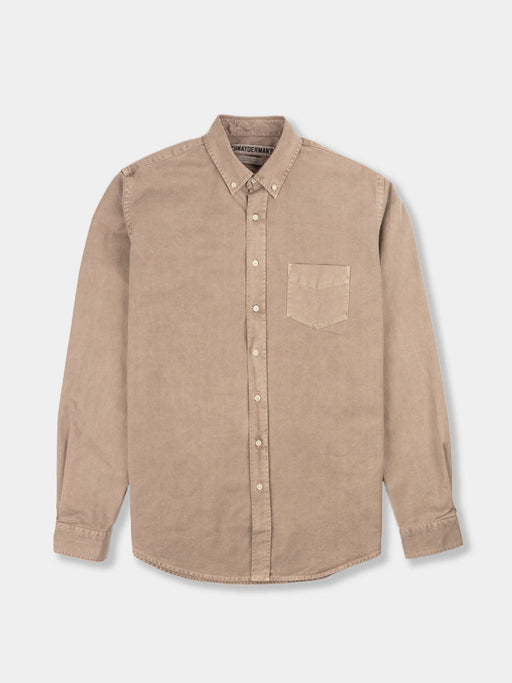 Shirt Overdyed One Camel