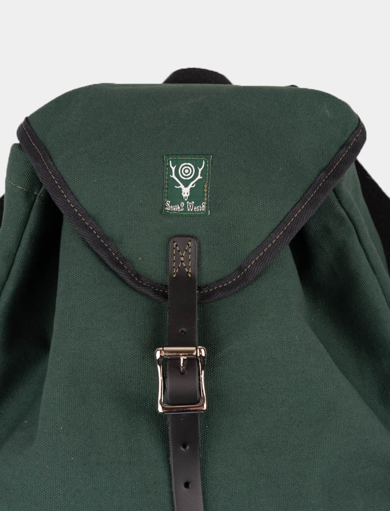 day pack, hunter green, south2 west8, leather belt closure