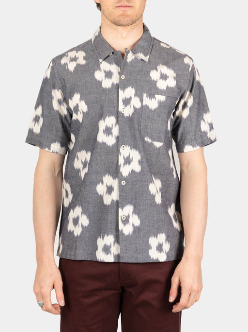 Road Shirt Grey Ikat Flower