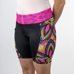 Venganza Cycling Short Mandala Design