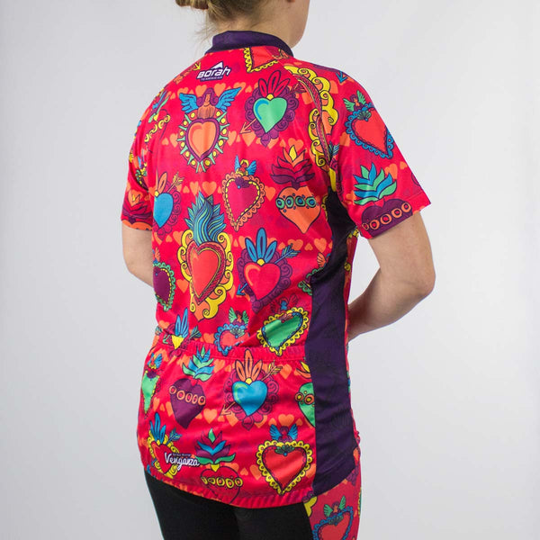 Venganza Cycling Jersey Courageous Heart Design