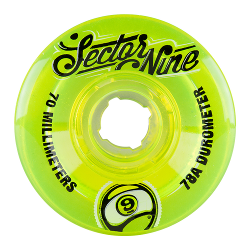 70MM 78A TOP SHELF (9BALL) - LIME - Buy Longboard & Cruiser Skateboard, carving skateboard & Gullwing Sidewinder Trucks