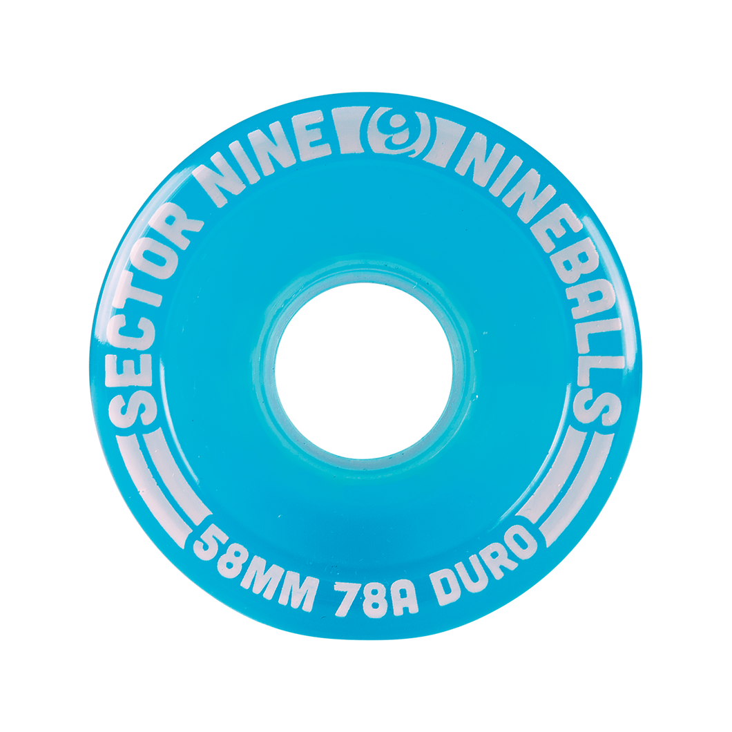 58mm 78a Nineballs Light Teal - Buy Longboard & Cruiser Skateboard, carving skateboard & Gullwing Sidewinder Trucks