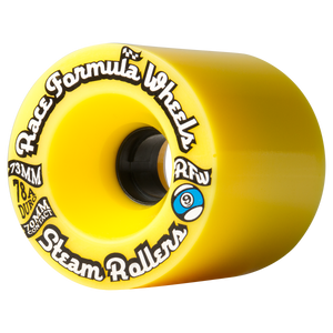 73mm 78a Steam Rollers  - Yellow - Buy Longboard & Cruiser Skateboard, carving skateboard & Gullwing Sidewinder Trucks