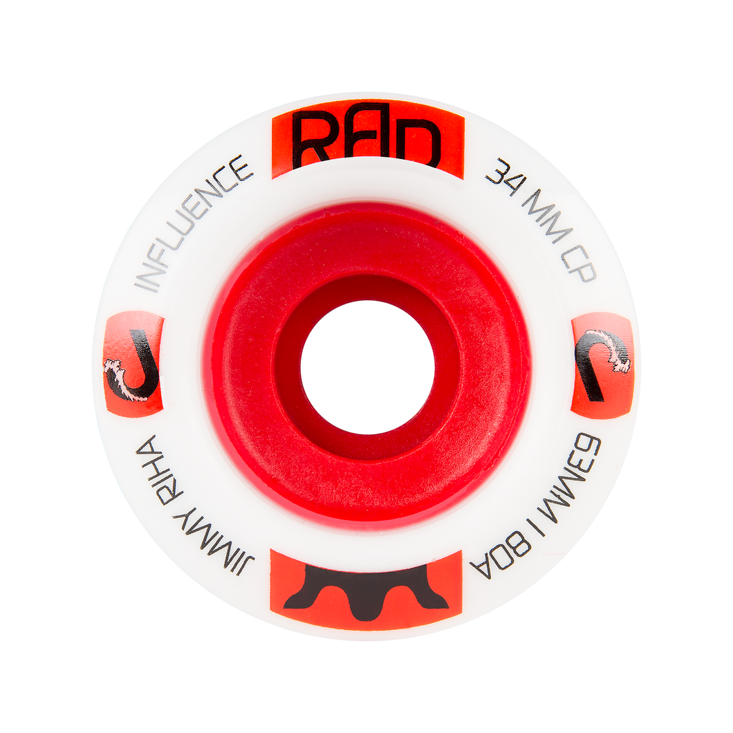 RAD 63mm 80a Jimmy Riha Influence - Buy Longboard & Cruiser Skateboard, carving skateboard & Gullwing Sidewinder Trucks