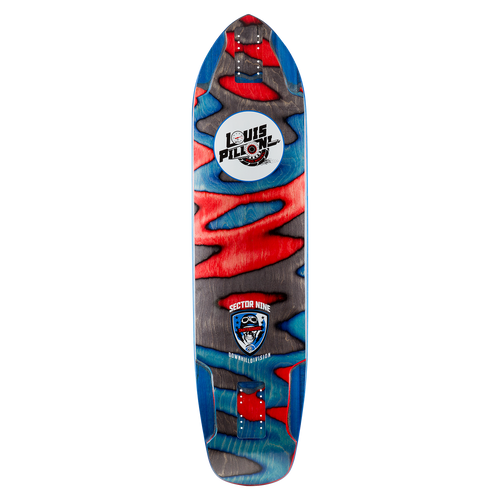 Ripped Louis Pro Deck - Buy Longboard & Cruiser Skateboard, carving skateboard & Gullwing Sidewinder Trucks