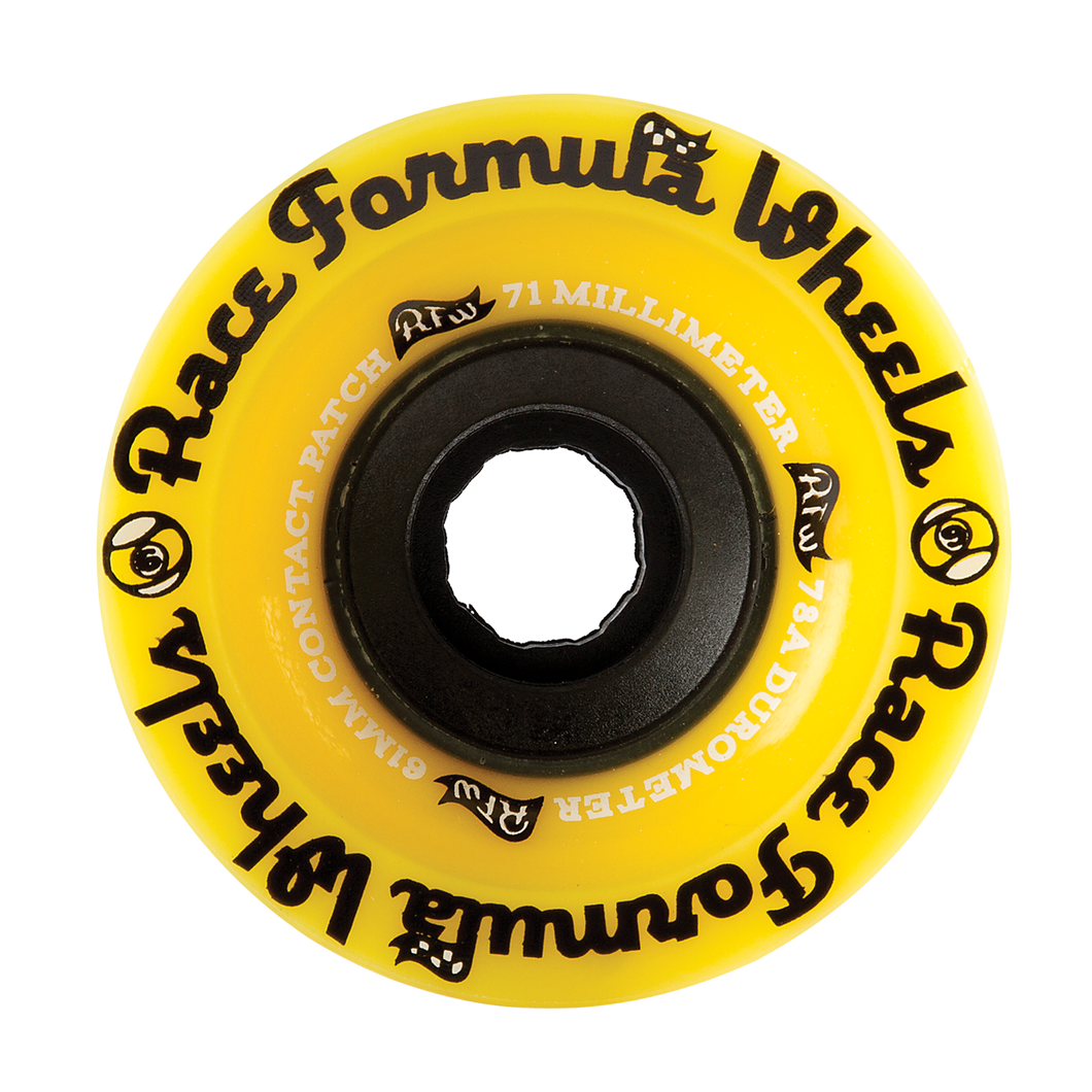 71MM 78A RACE FORMULA - YELLOW - Buy Longboard & Cruiser Skateboard, carving skateboard & Gullwing Sidewinder Trucks