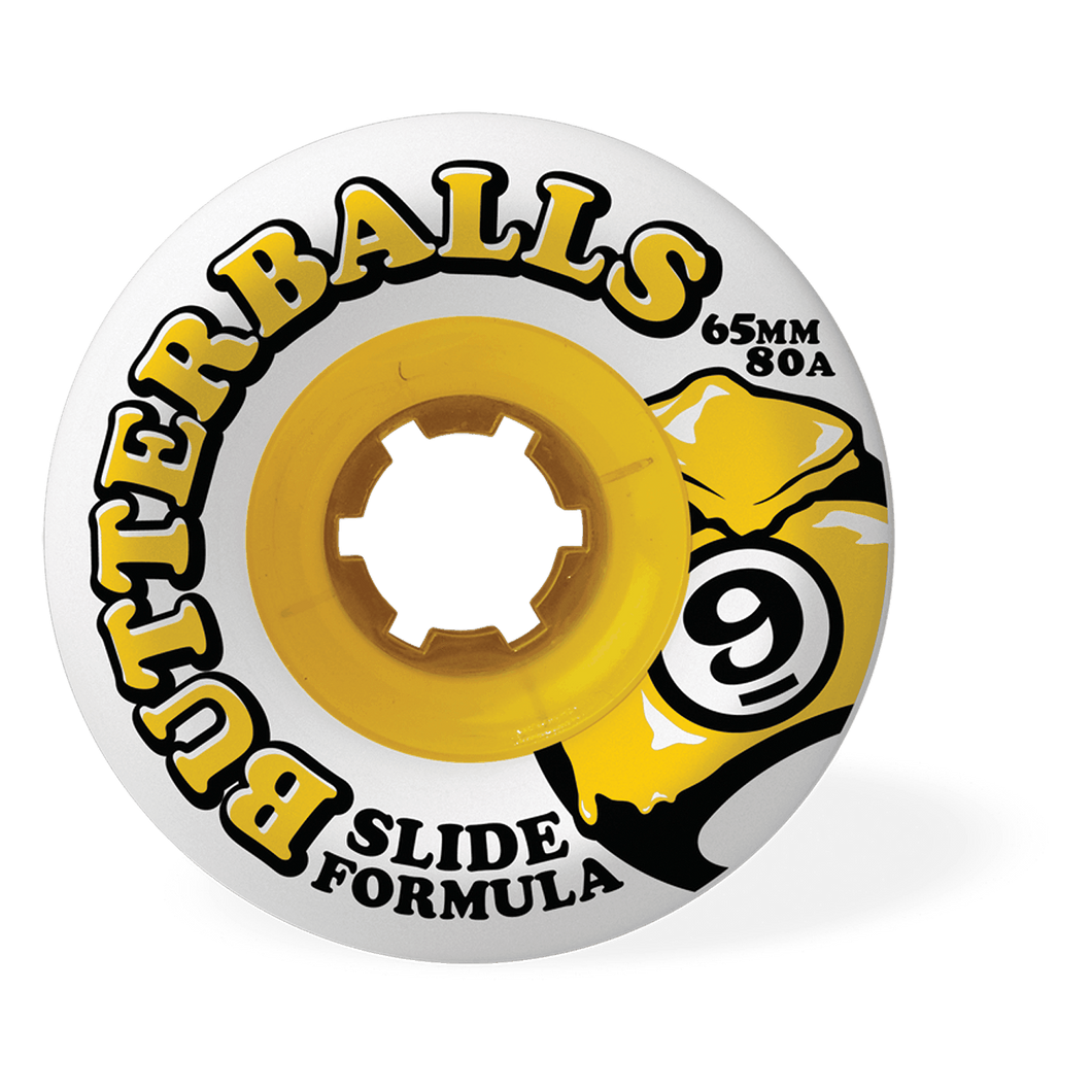 65MM 80A BUTTERBALLS - WHITE - Buy Longboard & Cruiser Skateboard, carving skateboard & Gullwing Sidewinder Trucks