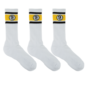 VINTAGE SOCK 3 PACK - WHITE - Buy Longboard & Cruiser Skateboard, carving skateboard & Gullwing Sidewinder Trucks