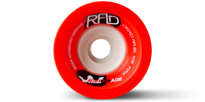 74MM 80A ADVANTAGE - RED - Buy Longboard & Cruiser Skateboard, carving skateboard & Gullwing Sidewinder Trucks