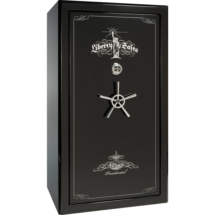 Liberty Safe-Presidential-50-Black-Gloss-Electronic-Lock-closed