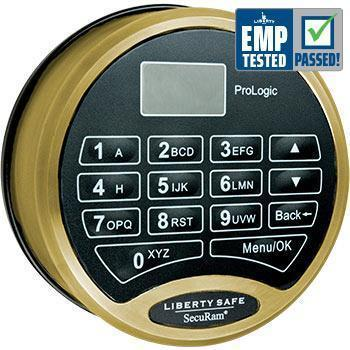 Liberty Safe-accessory-electronic-lock-prologic-brass
