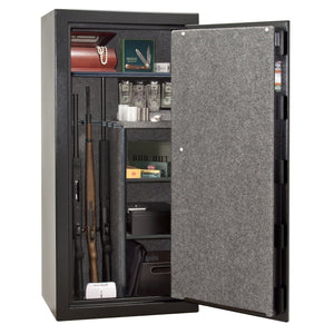 Liberty Safe-Centurion-24-Textured Black-Black Mechanical Safe Lock-Open Door