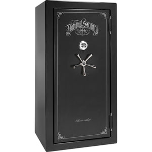 Liberty Safe-Classic Select-25-Burgundy Marble-Black Chrome Mechanical Safe Lock-Closed Door
