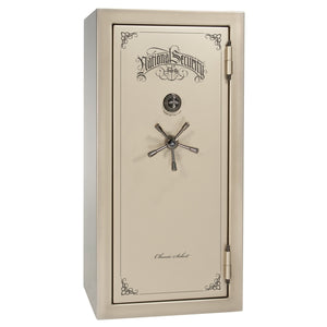 Liberty Safe-Classic Select-25-Champagne Gloss-Black Chrome Mechanical Safe Lock-Closed Door