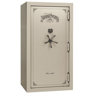 Liberty Safe-Classic Select-50-Champagne Gloss-Black Chrome Mechanical Safe Lock-Closed Door