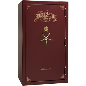 Liberty Safe-Classic Select-50-Burgundy Marble-Brass Mechanical Safe Lock-Open-Door