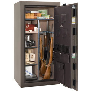 Liberty Safe-Colonial-23-Black Gloss-Polished Chrome Mechanical Safe Lock-Closed Door