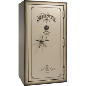 Liberty Safe-Magnum-50-Champagne Gloss-Black Chrome Mechanical Lock-Closed Door