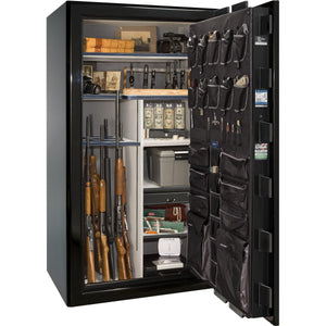Liberty Safe-Presidential-40-Black Gloss-Gold Mechanical Safe Lock-Open-Door