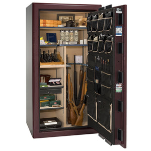 Liberty Safe-Presidential-25-Burgundy Gloss-Gold Mechanical Safe Lock-Open-Door