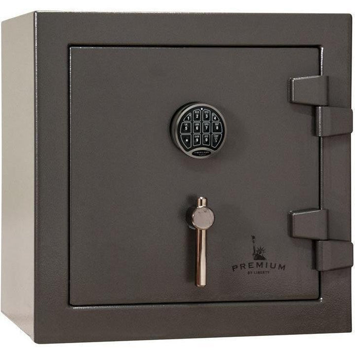 Liberty Safe-Home-5-Gray Marble-Black Chrome Electronic Safe Lock-Closed Door