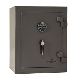 Liberty Safe-Home-12-Gray Marble-Black Chrome Electronic Safe Lock-Closed Door