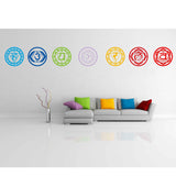 Set Chakras Wallpaper Stickers