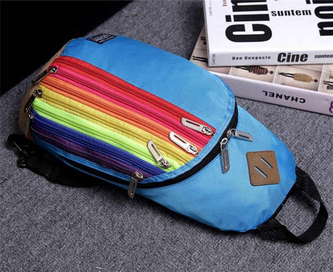 Sports Backpack Rainbow Striped