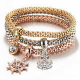 Crystal Charm Bracelets (3 Pcs/Set)