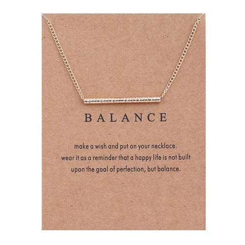 Balance Straight Bar Necklace & Pendant