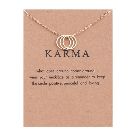 Karma Three Circle Necklace & Pendant