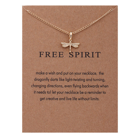 Free Spirit Dragonfly Pendant & Necklace