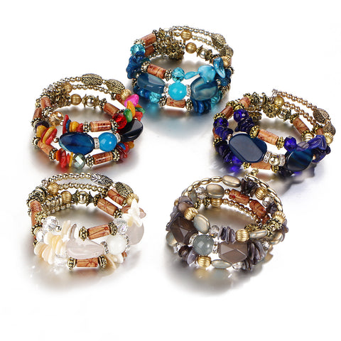 Multilayer Resin Stone Bracelets